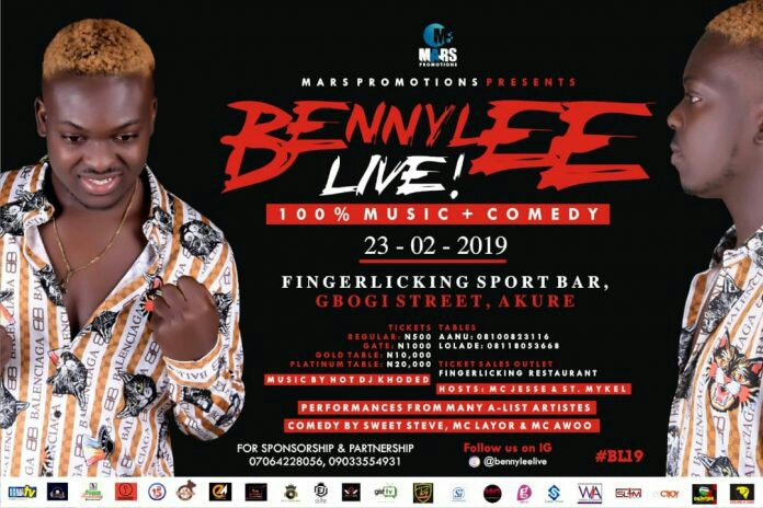 #BLI9: Bennyleelive'19 Free food and Accommodation